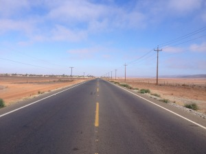 Long stretches of unending road