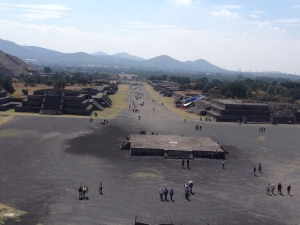 View from the pyramid of the moon - Teotihuacan