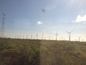 Wind turbines at La Ventosa