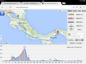 Route profile: Los Chile to Panama City