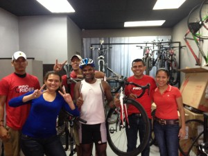 The happy folks at the Specialized bike shop in  Managua, Nicaragua