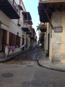 Some typical streets in the Centro area of Caragena