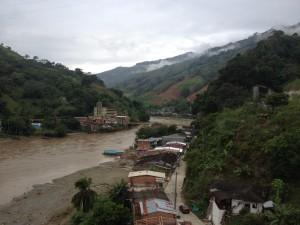 The bridge at Valvidia where the ascent begins