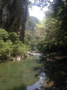 The canyon carved by Rio Claro