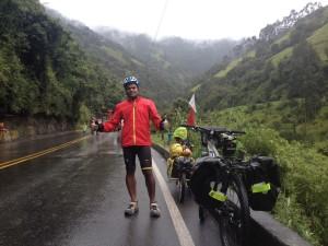 Climbing La Linea in the rain