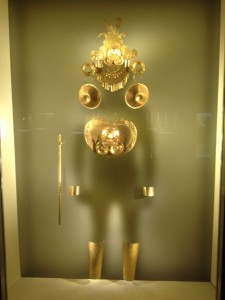 At the gold museum in Bogota