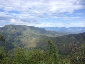The descent from Popayan