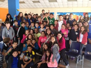 with the 5th graders at Colegio Menor, Quito