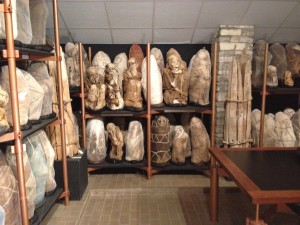 Mummies at the Leimebamba museum