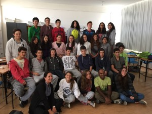 With the grade 9 pupils at The American School of Quito