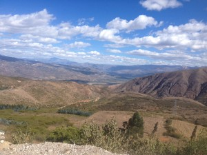 On my way out of Cajamarca