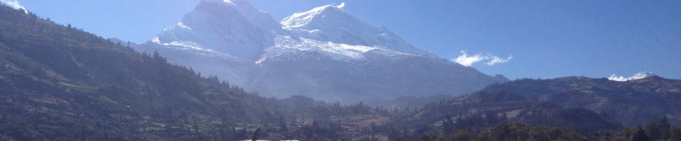 Huascaran the tallest mountain in Peru about 6786metres