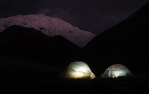At the Ishinca base camp - Photo by Paul Griffiths