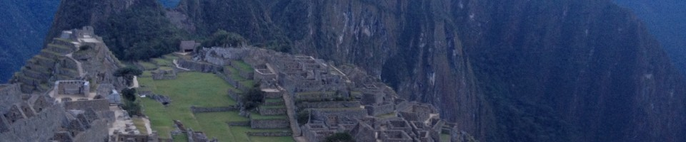 That typical photo of Machu Picchu
