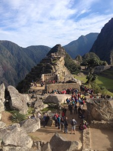 Some of the ruins at Machu Picchu