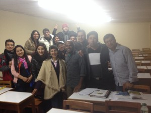 with tourism students at Universidad Andina, Cusco