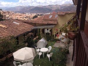 Camping at a hostel in Cusco