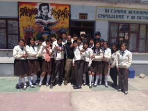 At the school in Challapata called 'Educativa Republica Argentina""