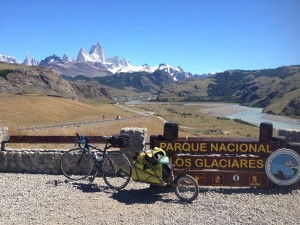 At the entrance to El Chalten